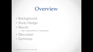 Oral presentation overview slide