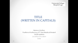 Oral presentation title page